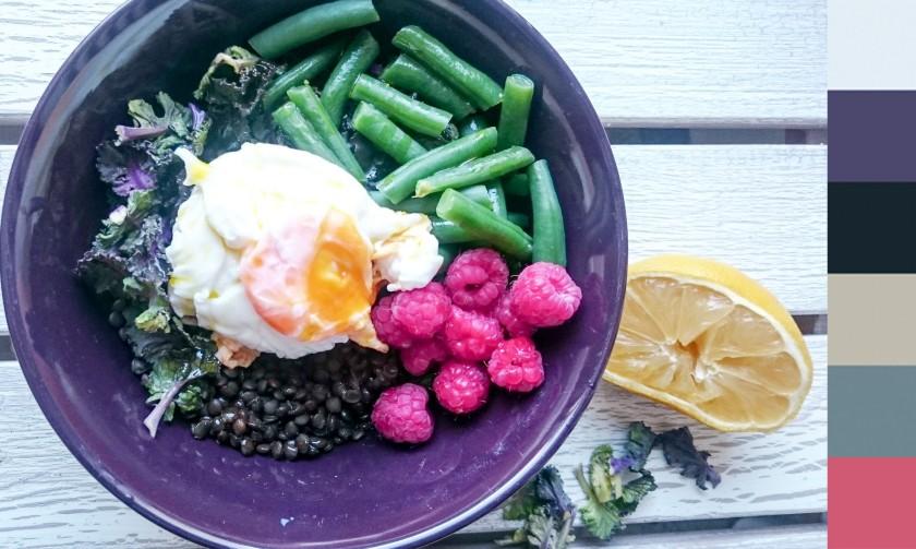 beluga lentil kale raspberry salad