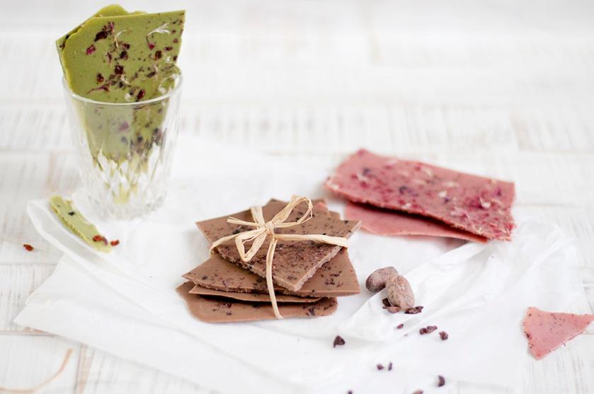 matcha, strawberry, cacao chocolate self-made