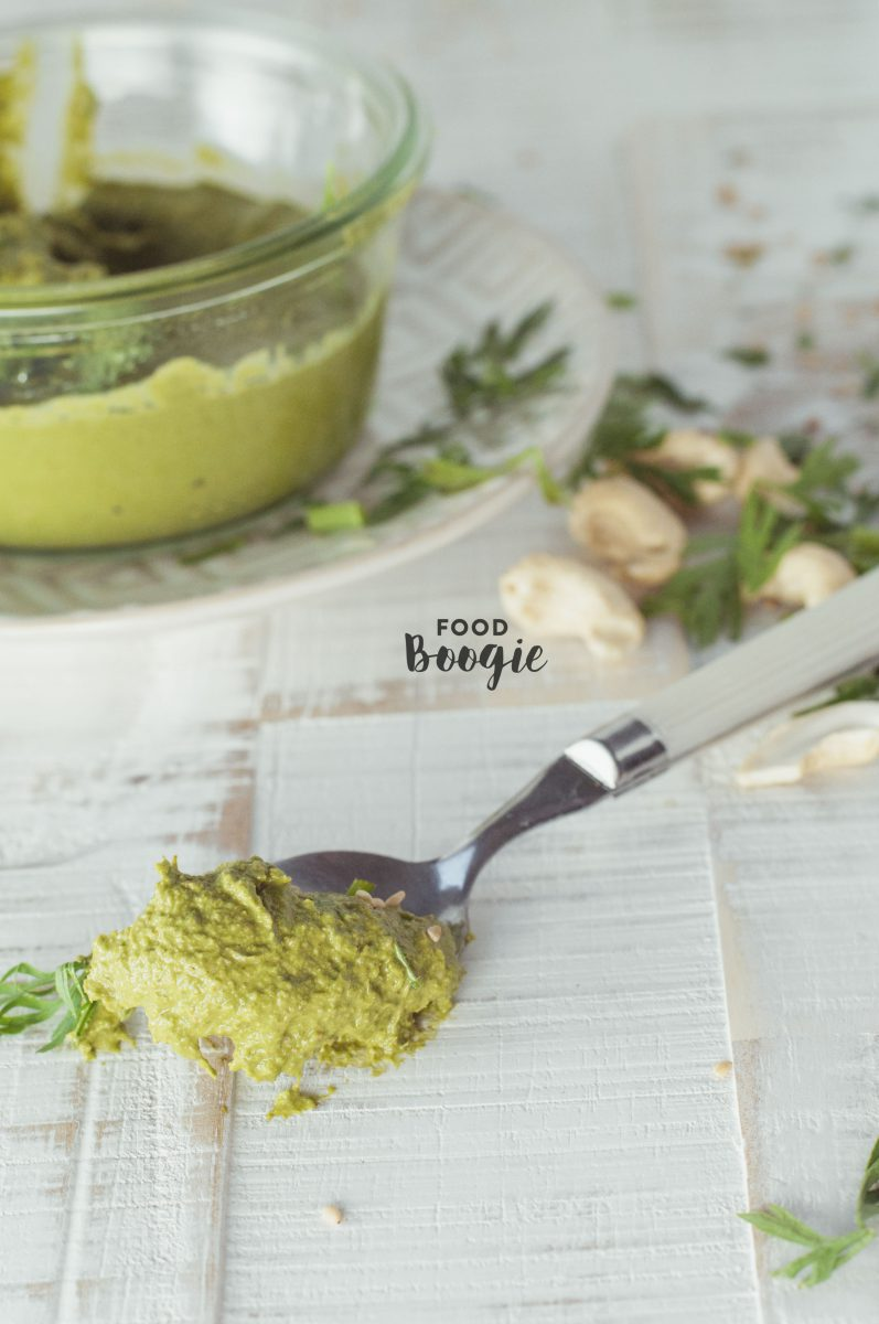 carrot tops pesto